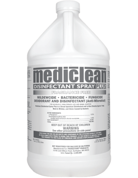 Disinfectant Spray Plus Fragrance Free MBD-01 221522902 Mediclean - Microban