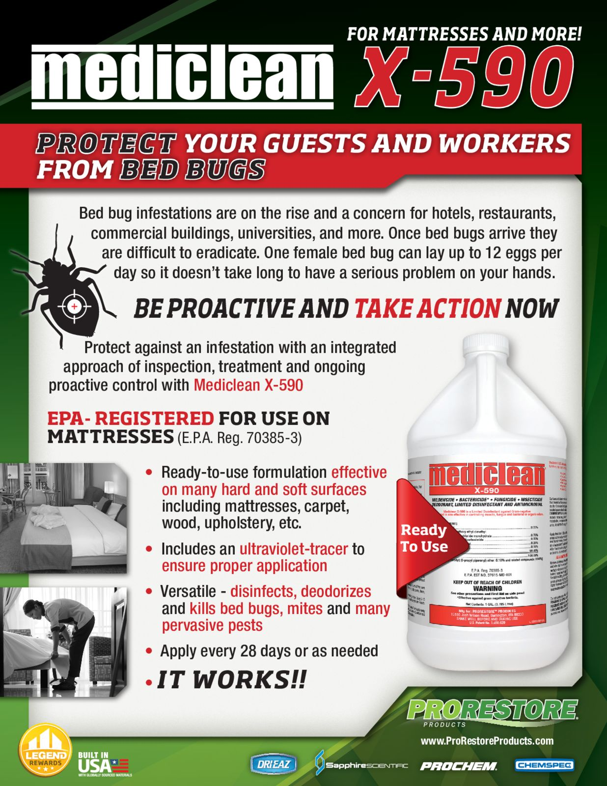 Mediclean Bed Bug X 590 Flyer