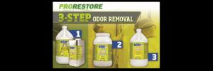 3 Step Odor Removal