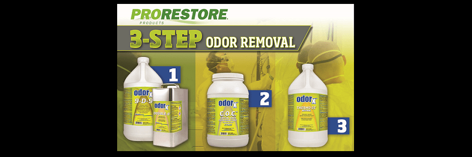 3 Step Odor Removal