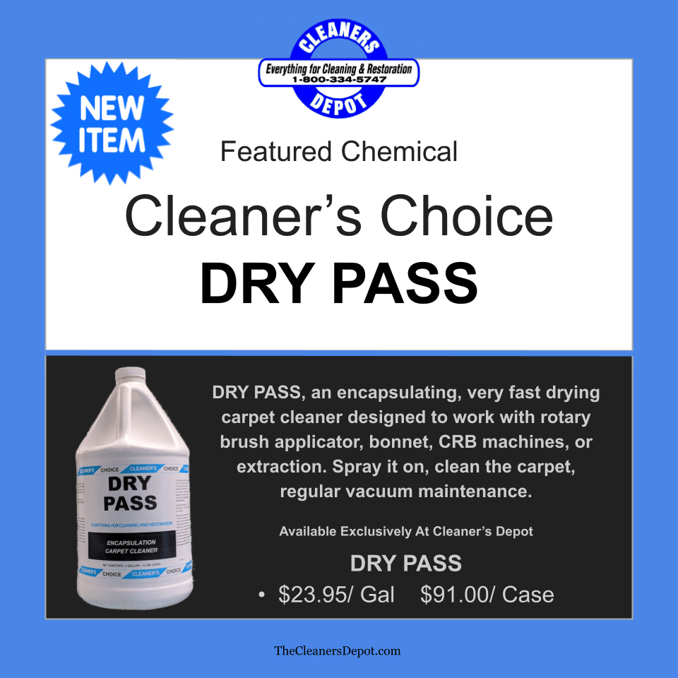 Dry Pass Featured CD-P179-04 Cleaners Choice