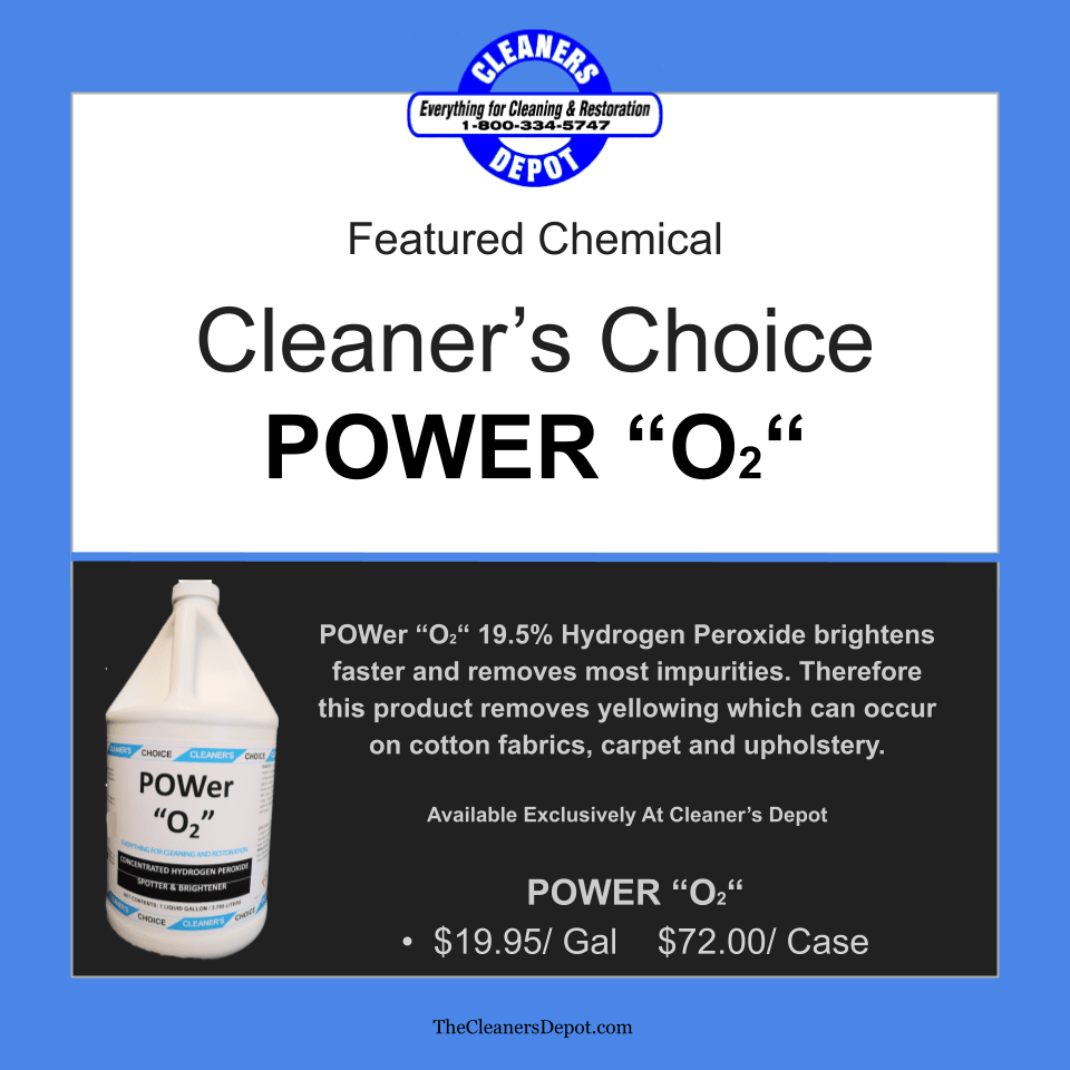 Power O2 Featured CD-P165-04 Cleaners Choice