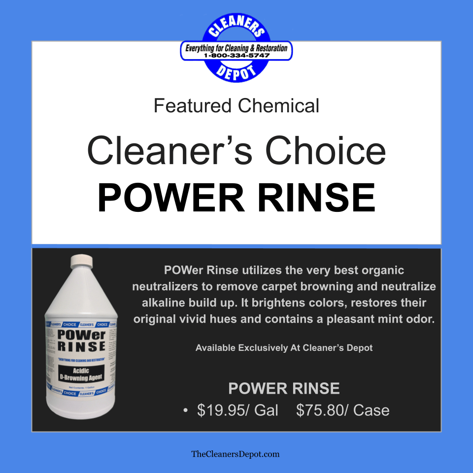 Power Rinse Featured CD-8245-01 Cleaners Choice