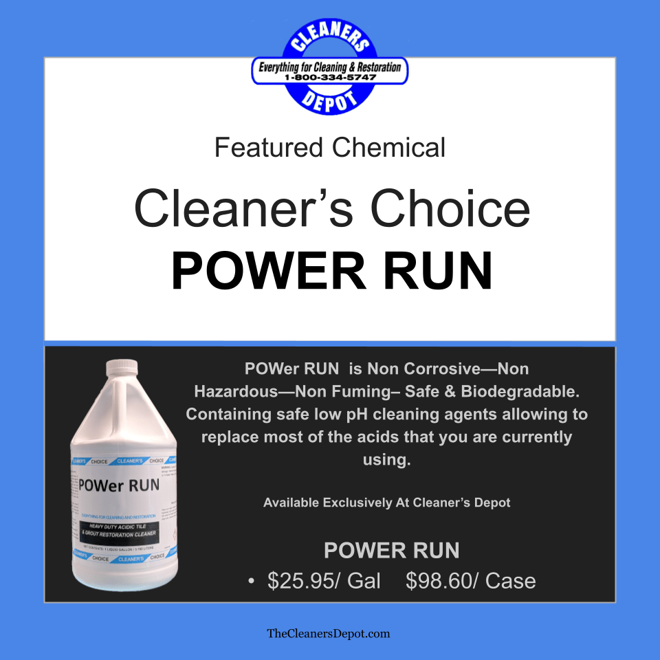Power Run Featured CD-P648-04 Cleaners Choice