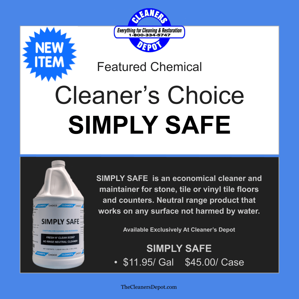 Simply Safe Featured CD-8600-01 Cleaners Choice
