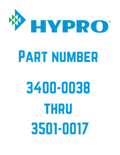 Hypro 3400-0038 to 3501-0017