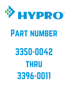 Hypro Parts 3350-00420 to 3396-0011