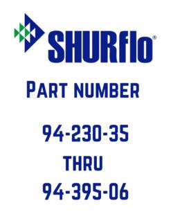 Shurflo 94-230-35 to 94-395-06