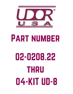 Udor Parts 02-0208.07 to 04-KIT UD-8